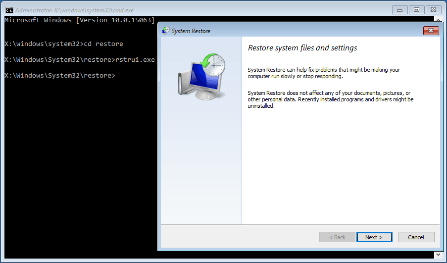 Remove DiStUrBeD via system restore
